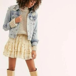 Free People From The Valley Mini Skirt